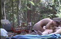 Filmou casal acampando e  transando